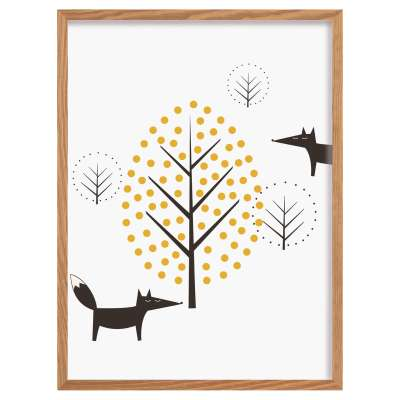 Bild Scandi Forest fox 30x40cm