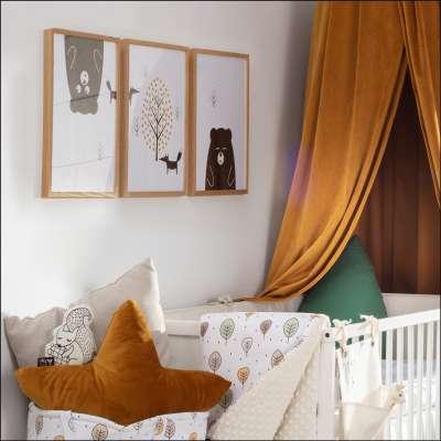 Bild Scandi Forest fox 30x40cm Bilder im Rahmen - Yellow-tipi.de