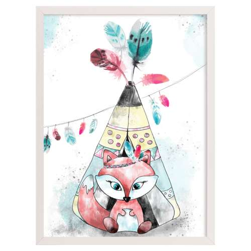 Obrazek Feathers&Dreams fox 30x40 cm