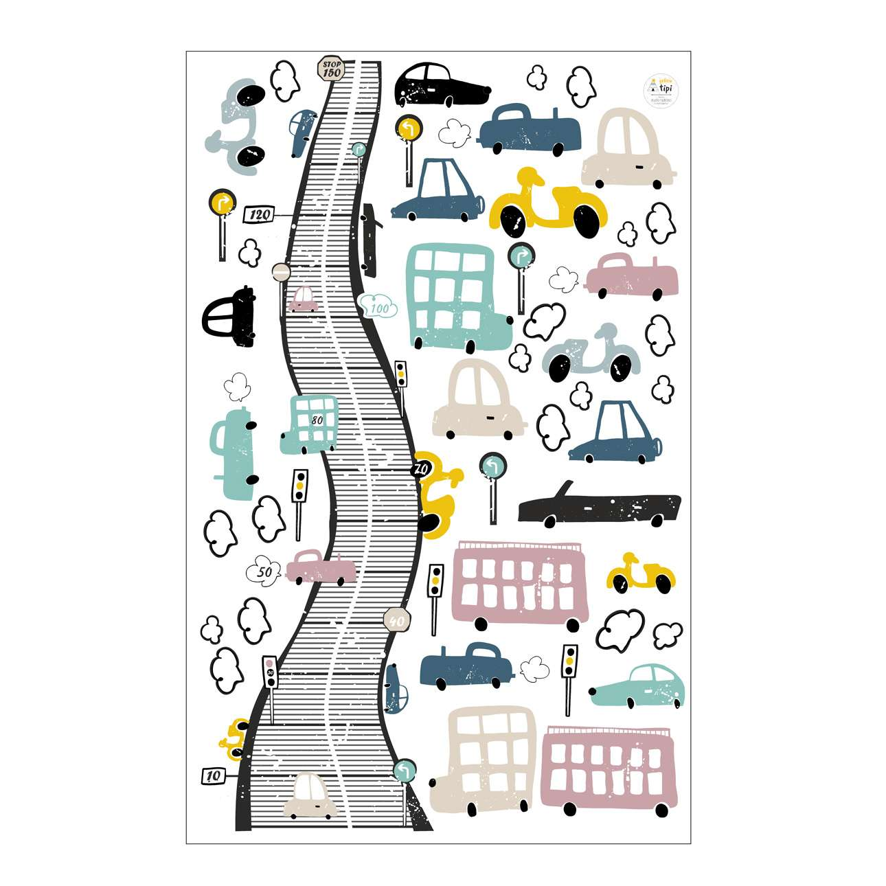 Colourful Traffic sticker set