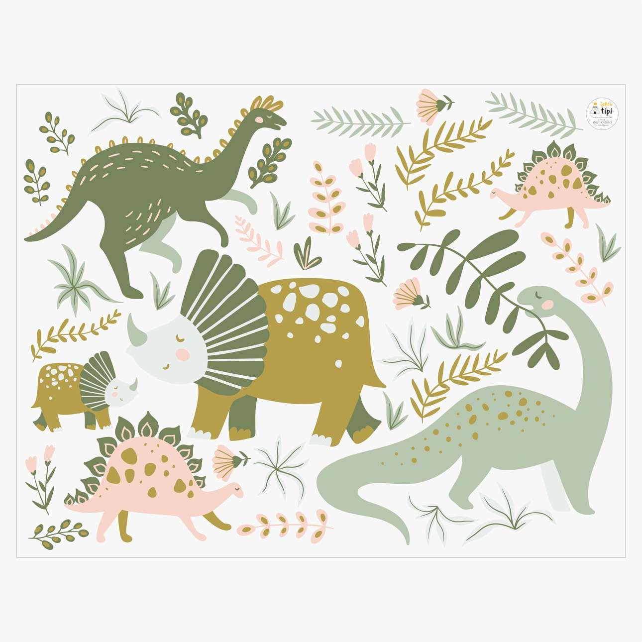 Sada samolepek Amazing Dino Land