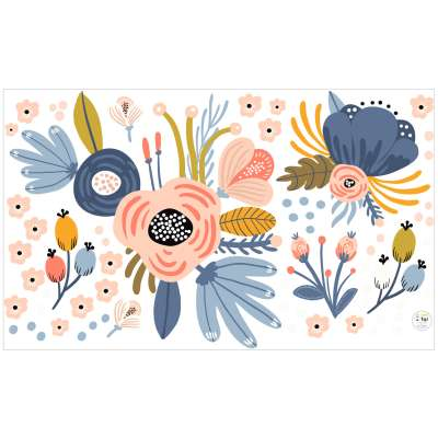 Aufkleber-Set Magic Flowers