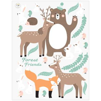 Forest Friends stickers set
