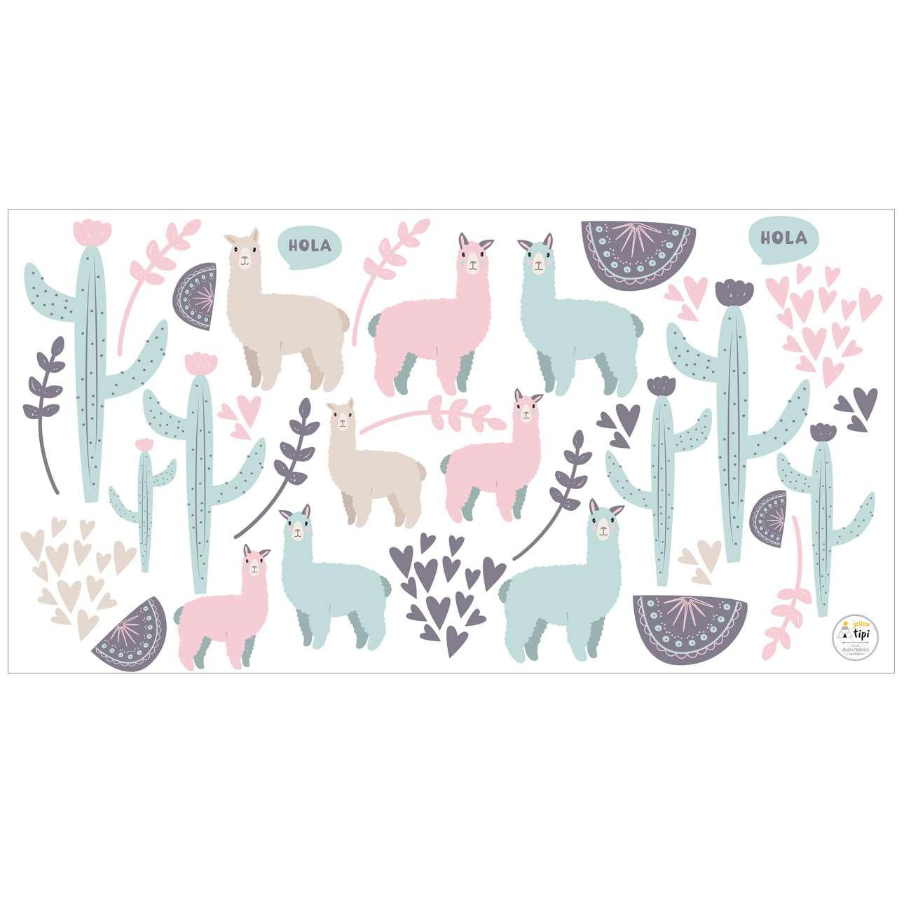 Sweet Llama sticker set
