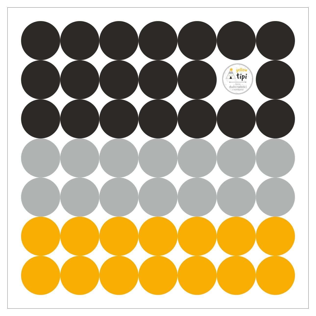 Mini Dots yellow tone lipdukų rinkinys