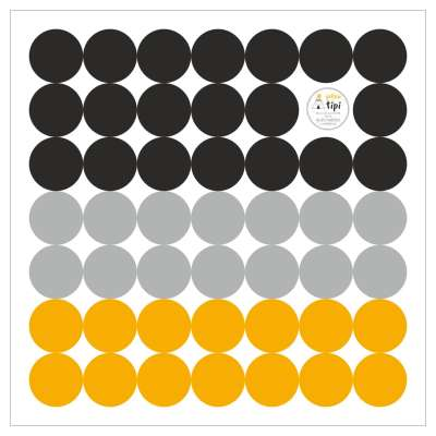 Mini Dots yellow tone sticker set