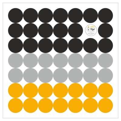 Sada samolepek Mini Dots yellow tone