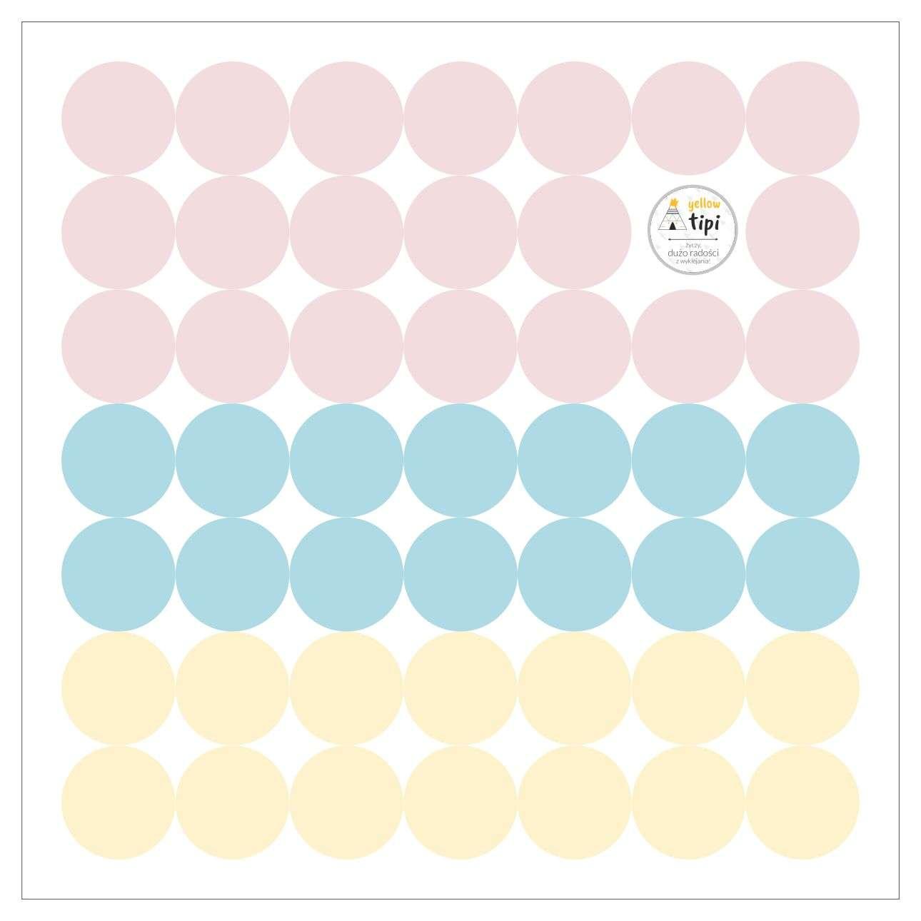 Sada samolepek Mini Dots sugar tone