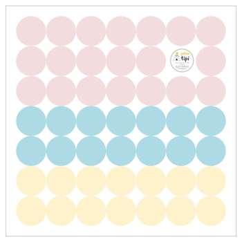 Zestaw naklejek Mini Dots sugar tone