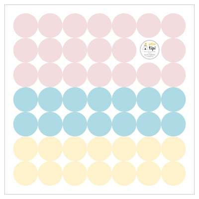 Aufkleber-Set Mini Dots sugar tone