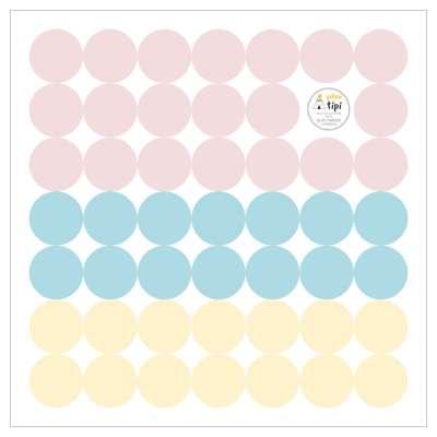 Mini Dots sugar tone lipdukų rinkinys