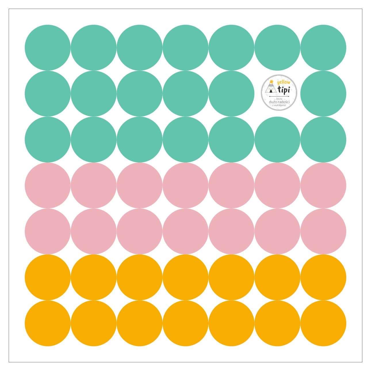 Mini Dots happy tone sticker set