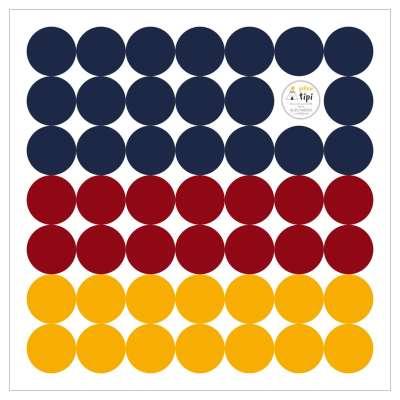 Mini Dots intense tone sticker set