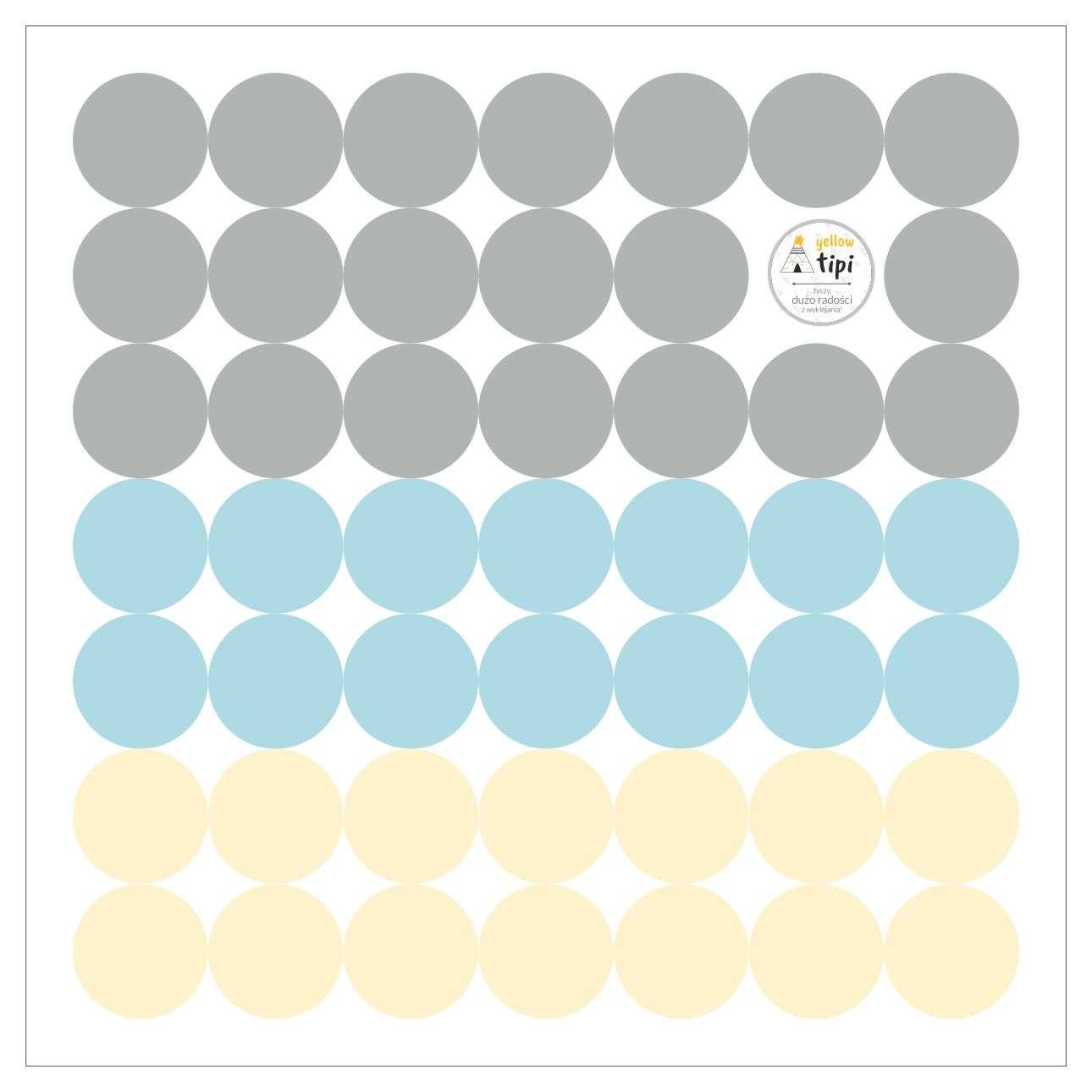 Aufkleber-Set Mini Dots sky tone