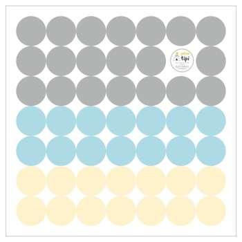 Zestaw naklejek Mini Dots sky tone