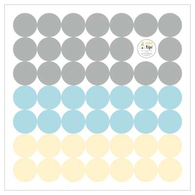 Mini Dots sky tone sticker set