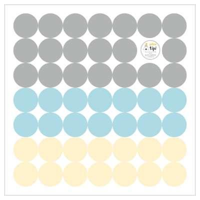 Sada samolepek Mini Dots sky tone Mini sady samolepek - Yellowtipi.cz
