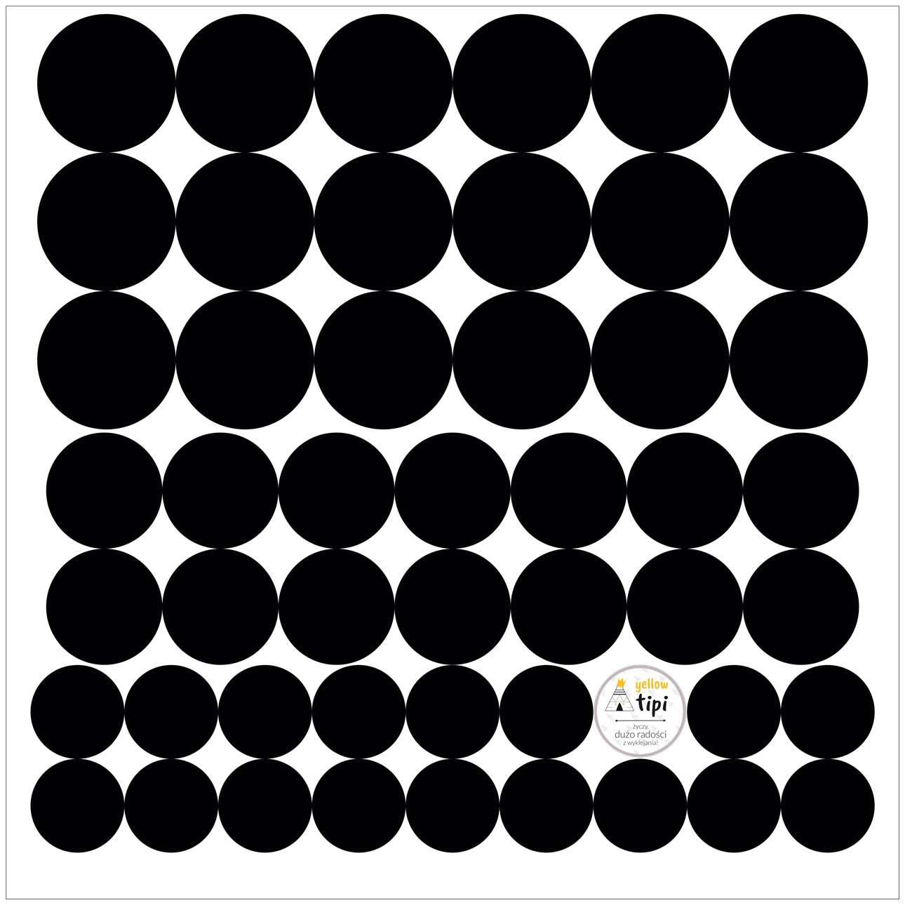 Mini Dots black tone sticker set