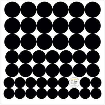 Zestaw naklejek Mini Dots black tone