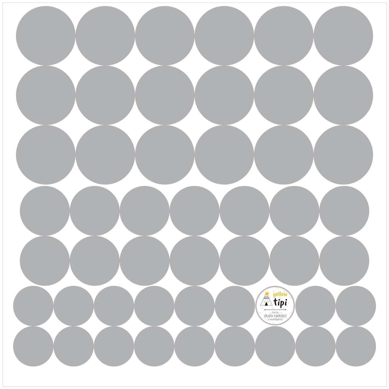Sada samolepek Mini Dots gray tone