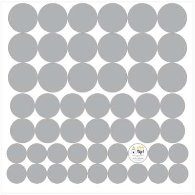 Mini Dots gray tone rinkinys Dekoratyviniai lipdukai - Yellowtipi.lt