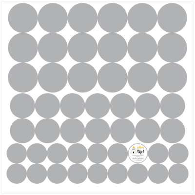 Zestaw naklejek Mini Dots gray tone