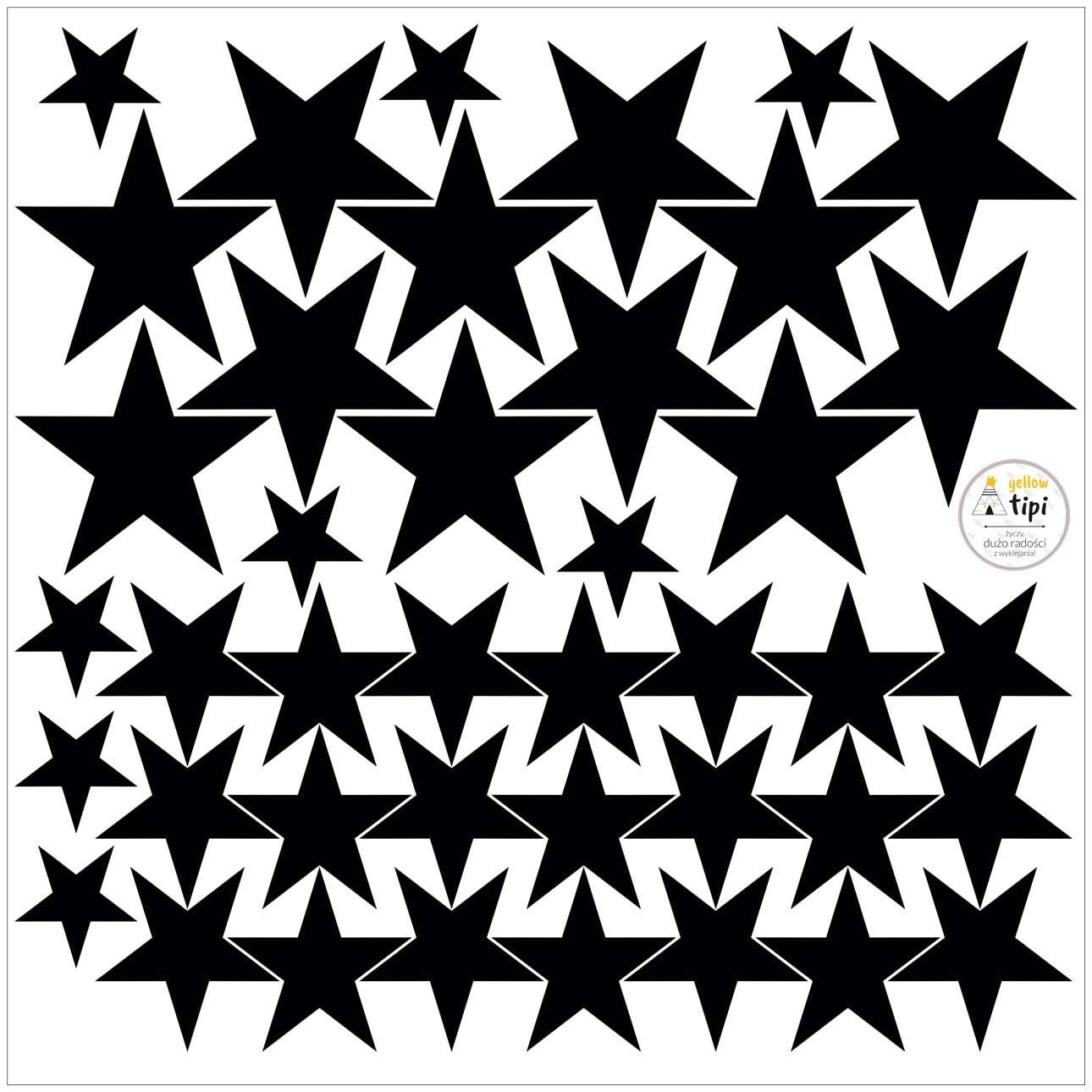 Aufkleber-Set Mini Stars black