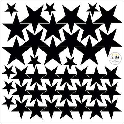 Sada samolepek Mini Stars black Mini sady samolepek - Yellowtipi.cz