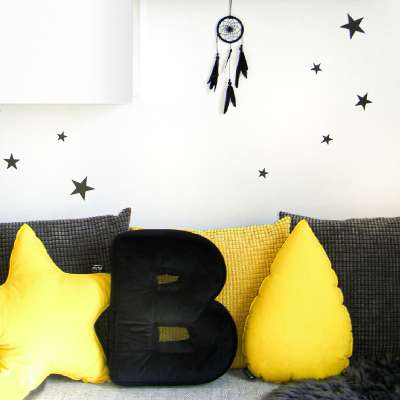Zestaw naklejek Mini Stars black