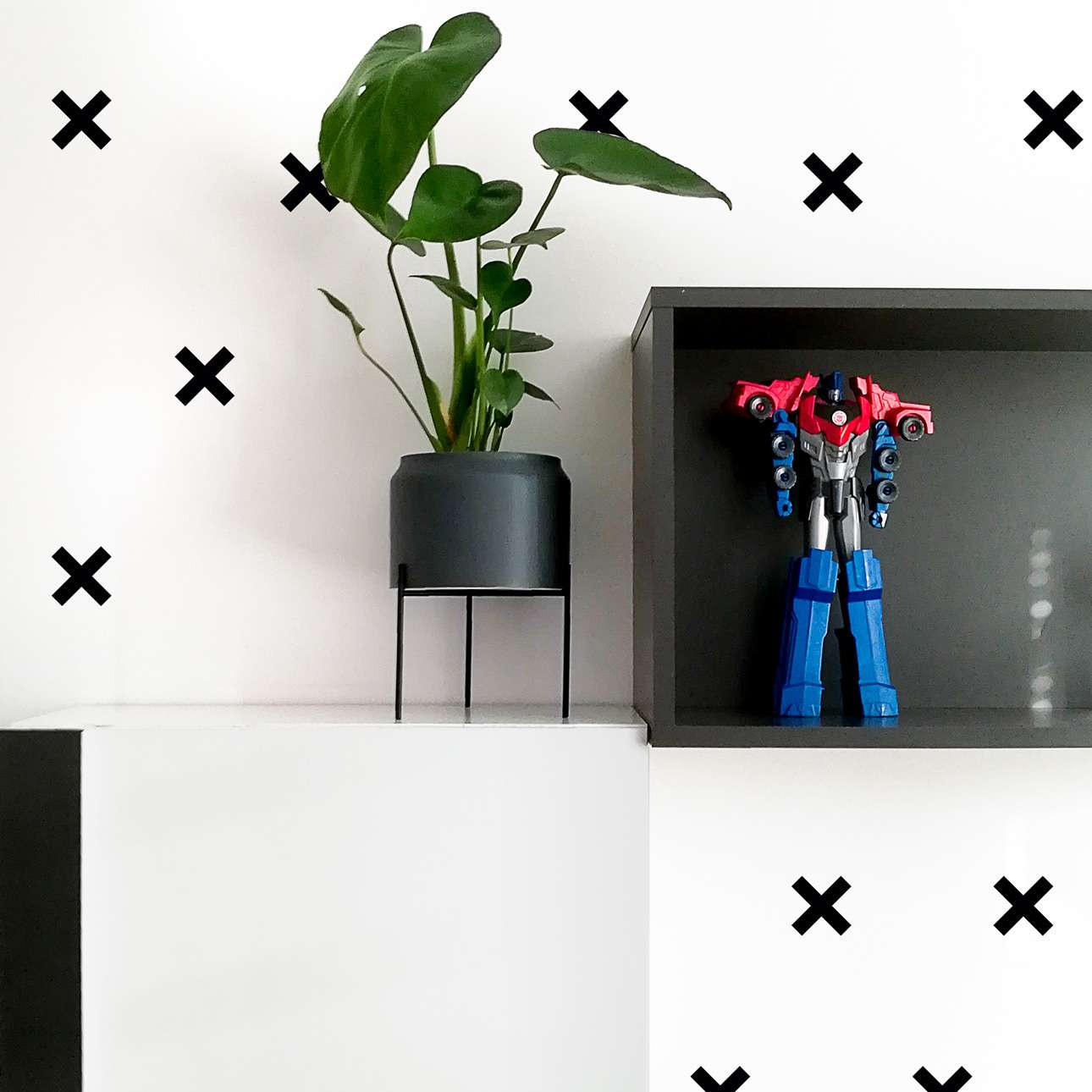 Aufkleber-Set Mini Cross black