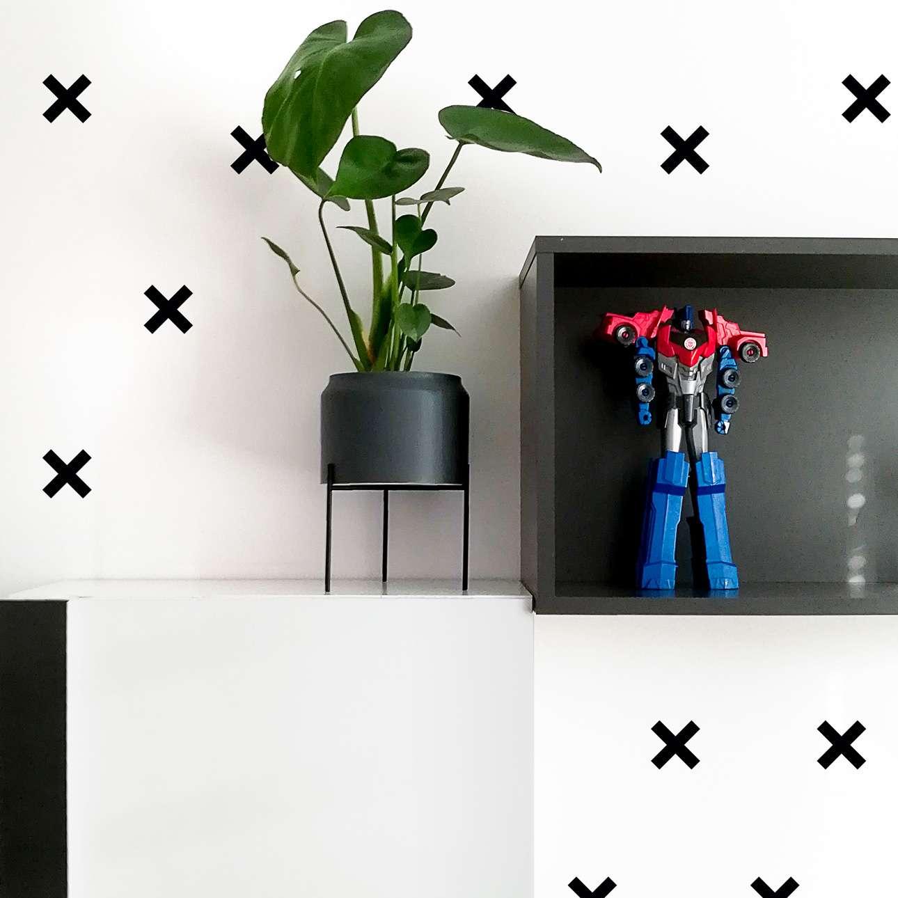Zestaw naklejek Mini Cross black