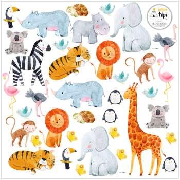 Naklejki Zoo Animals 40x40