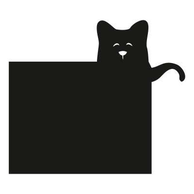 Tafelaufkleber Funny Band cat