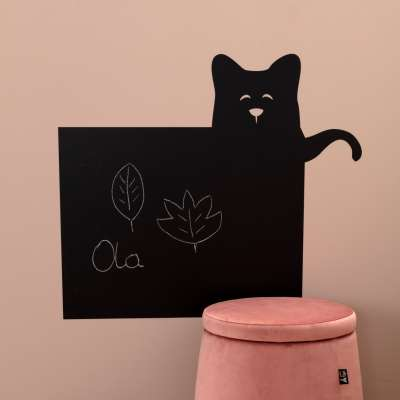 Funny Band cat chalkboard sticker