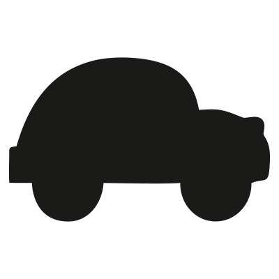 Naklejka tablicowa Car
