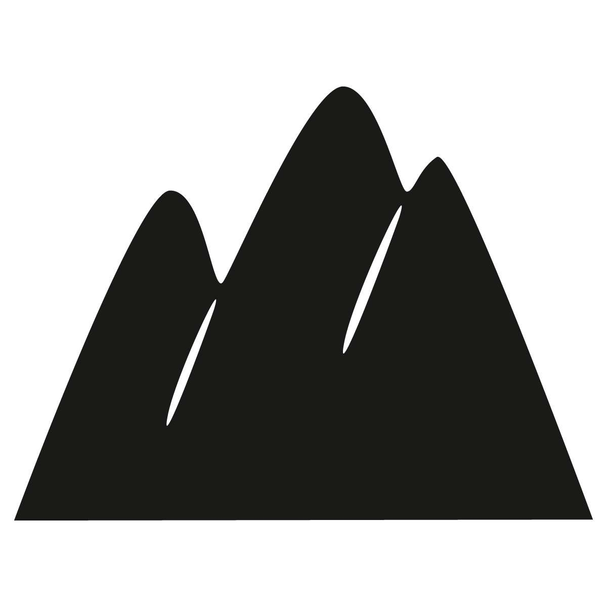 Mountains chalkboard sticker