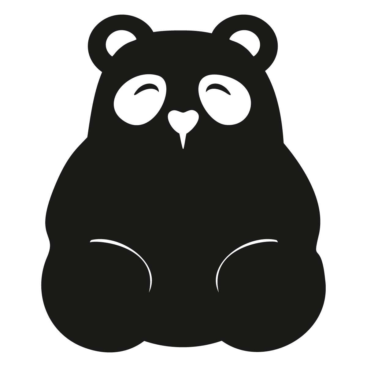 Panda chalkboard sticker