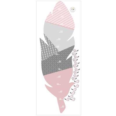 Samolepka dětský metr Feather rose