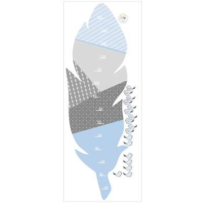 Samolepka dětský metr Feather blue