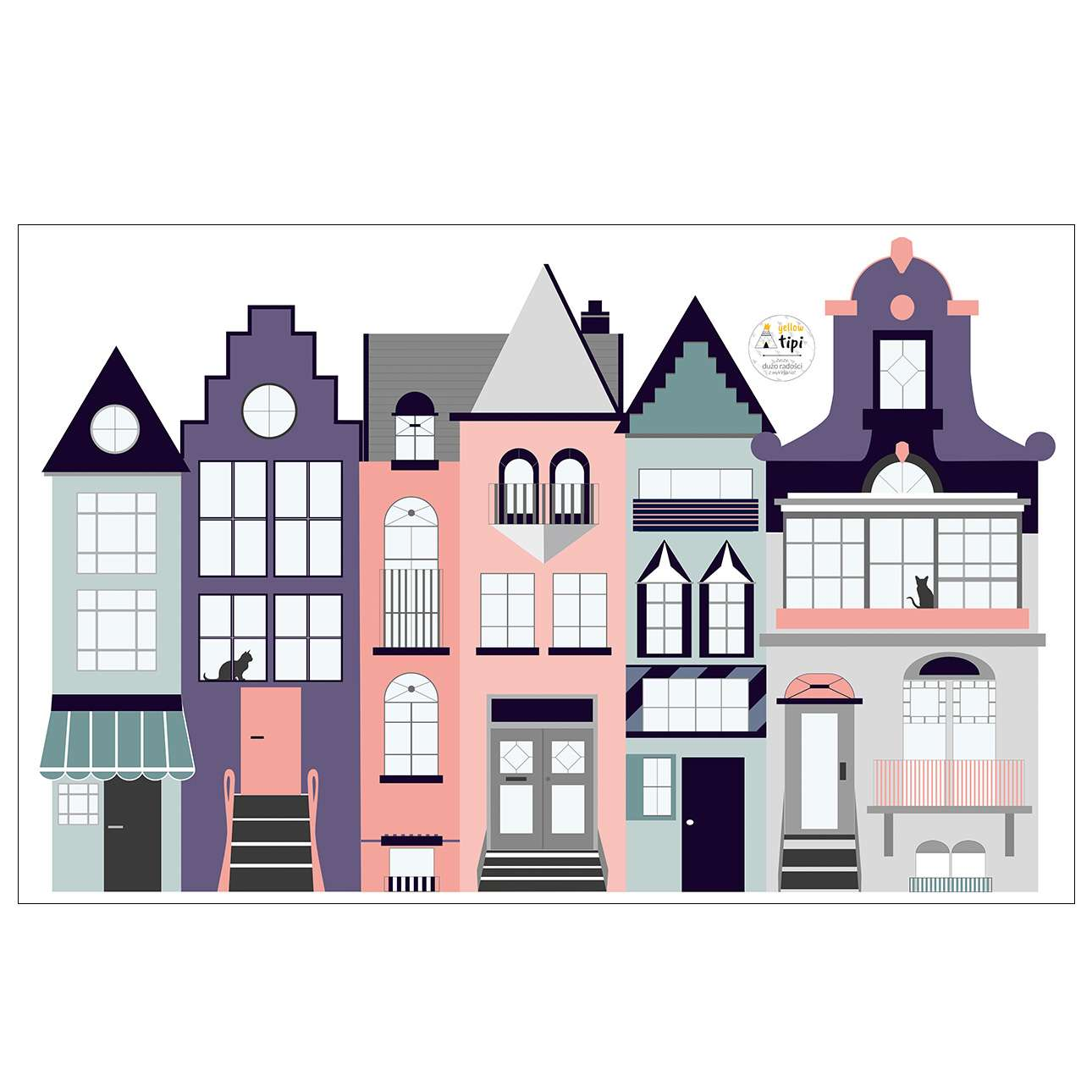 Aufkleber Houses I