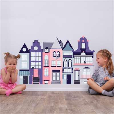 Samolepka Houses I