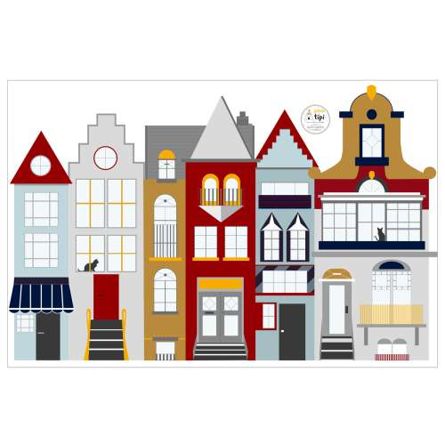 Houses II sticker