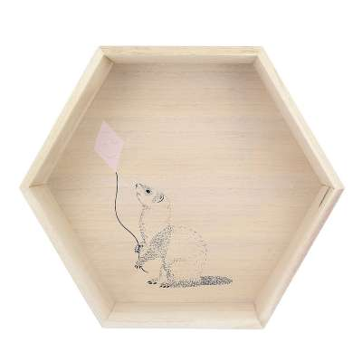 Hexagon pink shelf 36cm