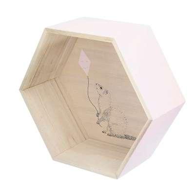 Hexagon pink lentyna 36cm