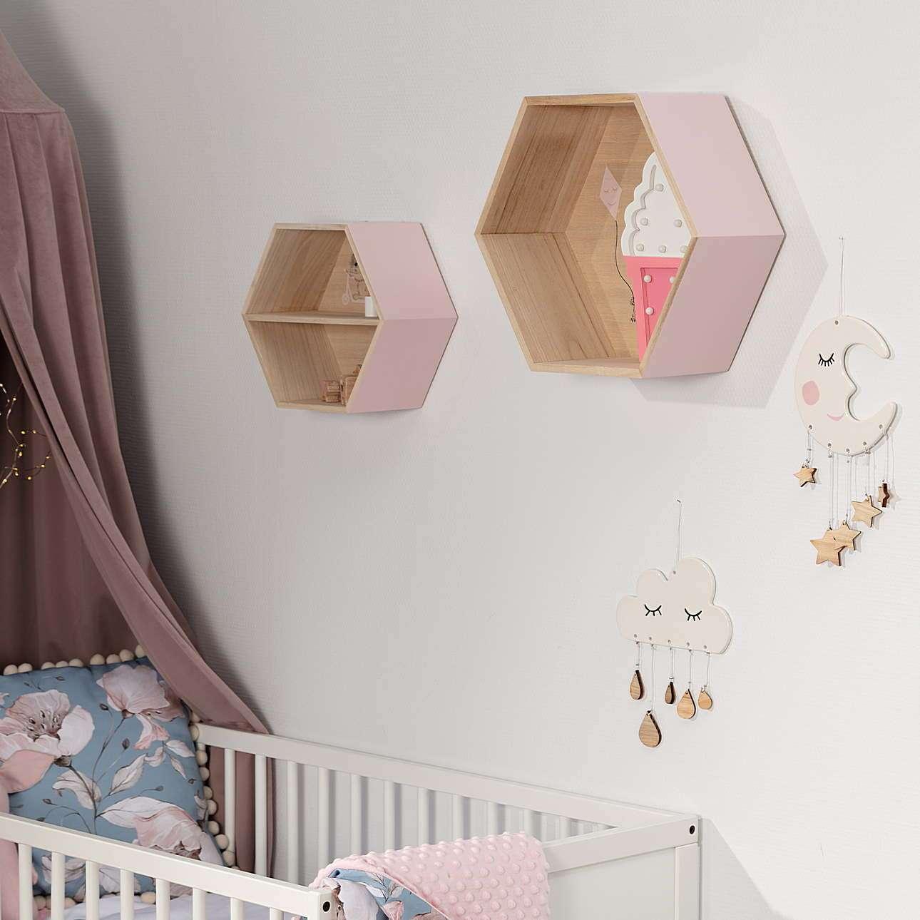 Półka Hexagon pink 36cm