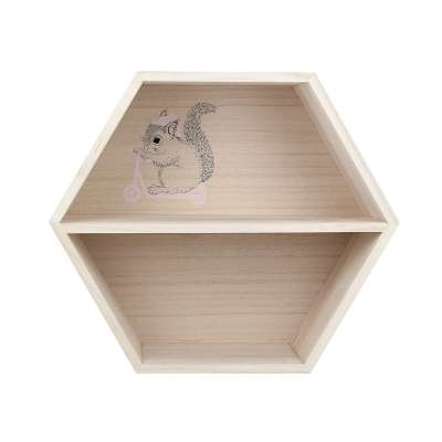 Hexagon pink shelf 26cm