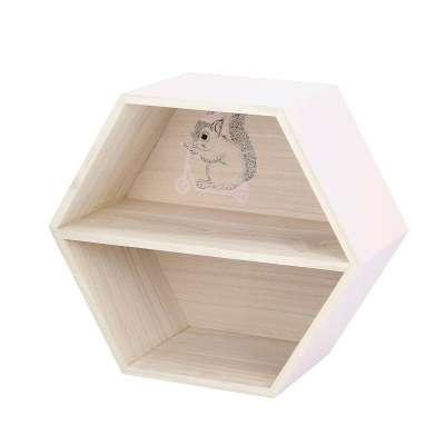 Hexagon pink shelf 26cm Furnitures - Yellowtipi.uk