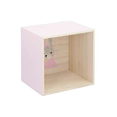Box pink shelf 25cm