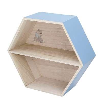 Hexagon blue shelf 38cm