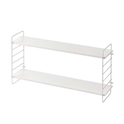 Simple white wall shelf